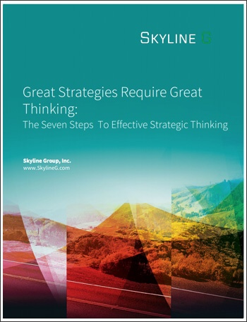 Great Strategies Require Great Thinking: The Seven Steps To Effective Strategic Thinking