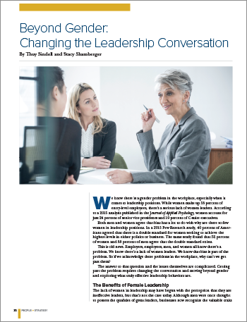 Beyond Gender: Changing the Leadership Conversation
