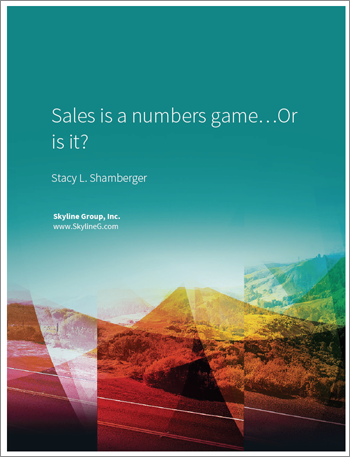 Sales Is a Numbers Game... Or is It?